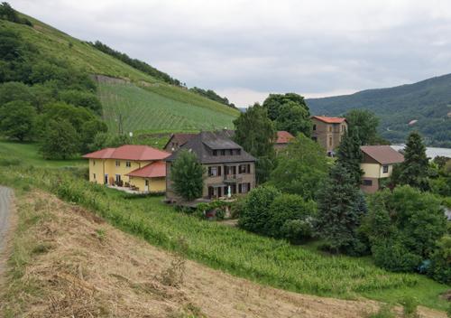 Häuser im Lorcher Bächergrund.