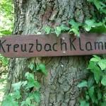 Wegweiser Kreuzbachklamm