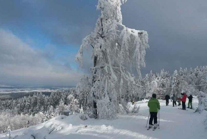 Skifahren auf dem Erbeskopf im Hunsrück