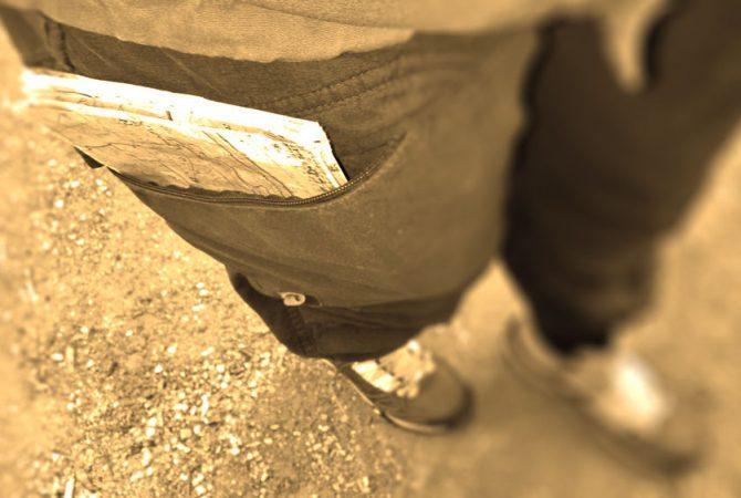 Hose mit Kartentasche