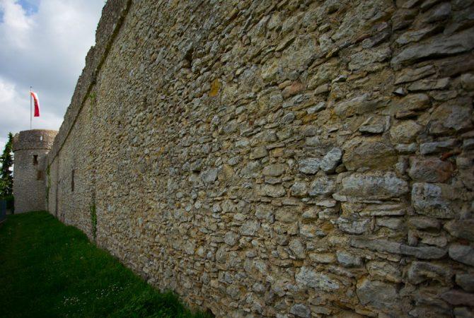 Über 1 Kilometer lang ist der erhaltene Teil der Fleckenmauer, erzählt de Stadtführerin.