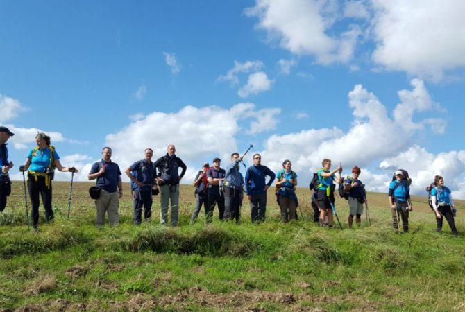 Die ganze Truppe auf einen Blick auf der Eulenbiser Höhe.