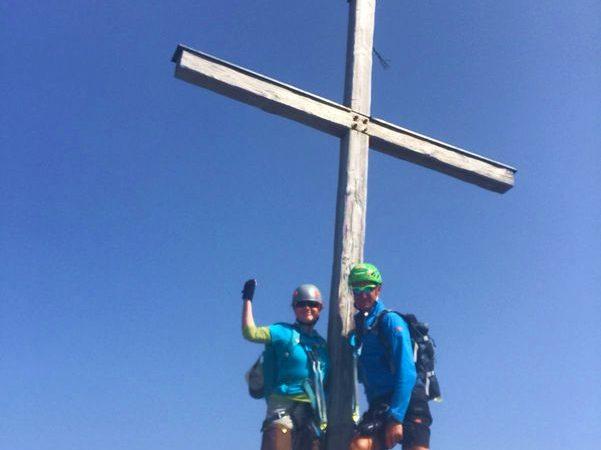 Am Gipfel des Westlichen Wengenkopfs (2235 Meter)