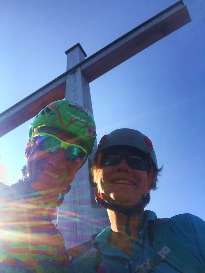 Bergführer Andy und ich auf dem Westlichen Wengenkopf.