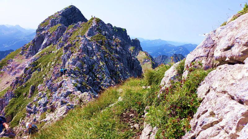 Hindelanger Klettersteig Wengenkopf : Hindelanger klettersteig mit blick zum westlichen wengenkopf