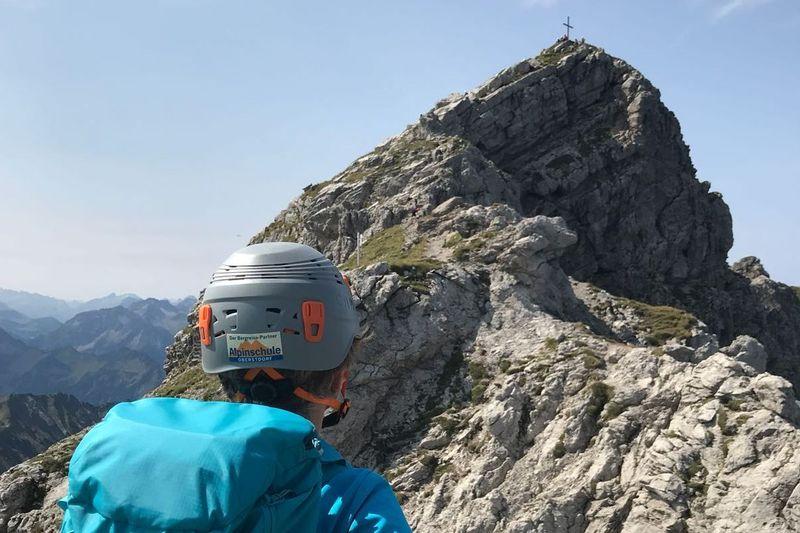 Westlicher Wengenkopf auf dem Hindelager Kletterteig