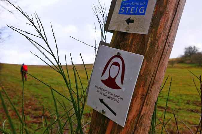 Hildegard von Bingen Weg Wegmarke