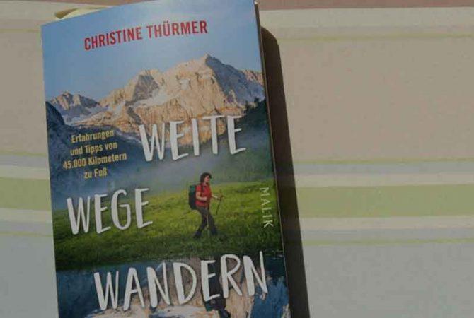 Buchcover Weite Wege Wandern von Christine Thürmer