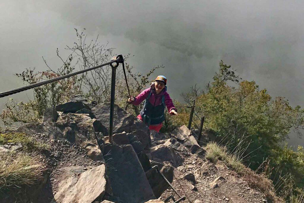 Calmont Klettersteig im Oktober.